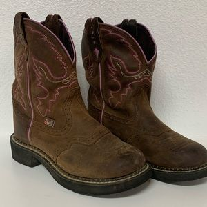 Justin Gypsy Pink Womens Western Boots